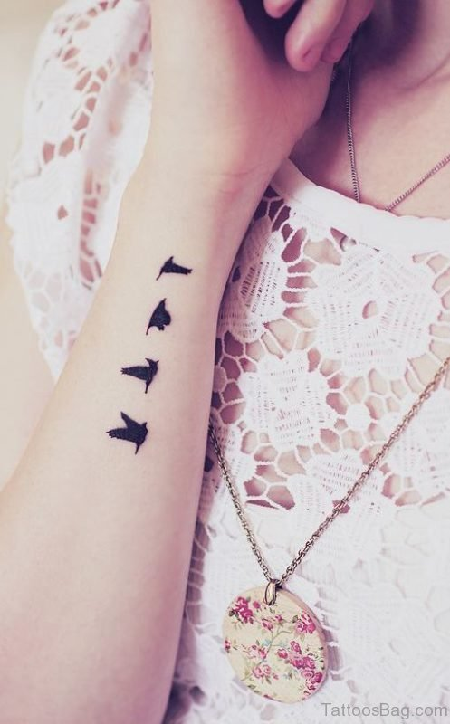 Flying Dove Tattoo On Arm