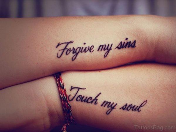 Forgive Tattoo On Wrist