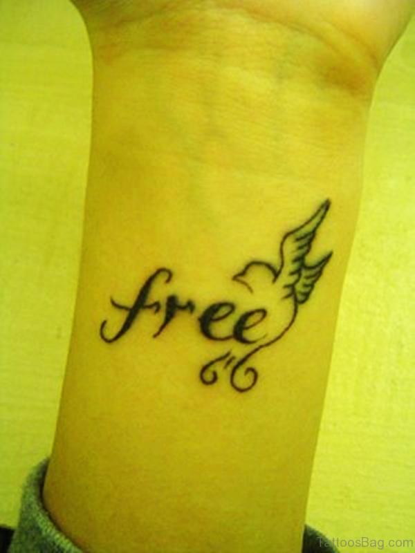 Free Bird Tattoo On Wrist