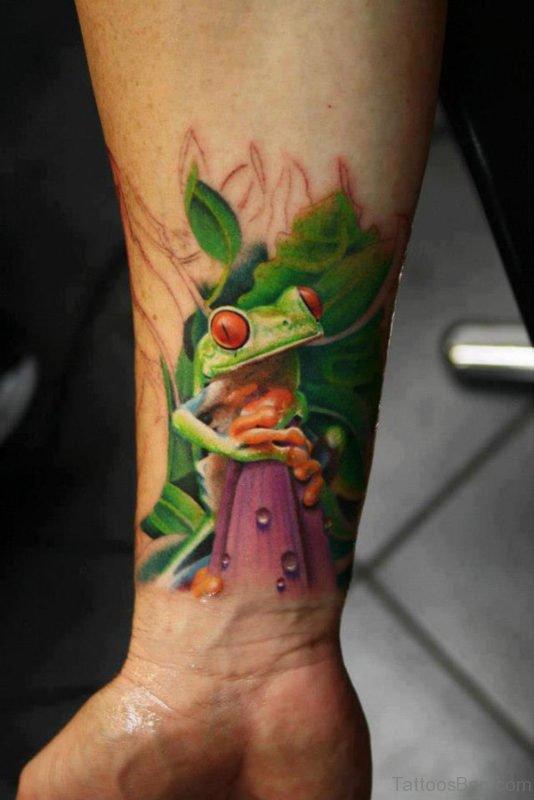 Frog Tattoo On Wrist 1