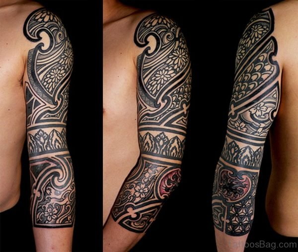 Full Sleeve African Drawing Tattoo