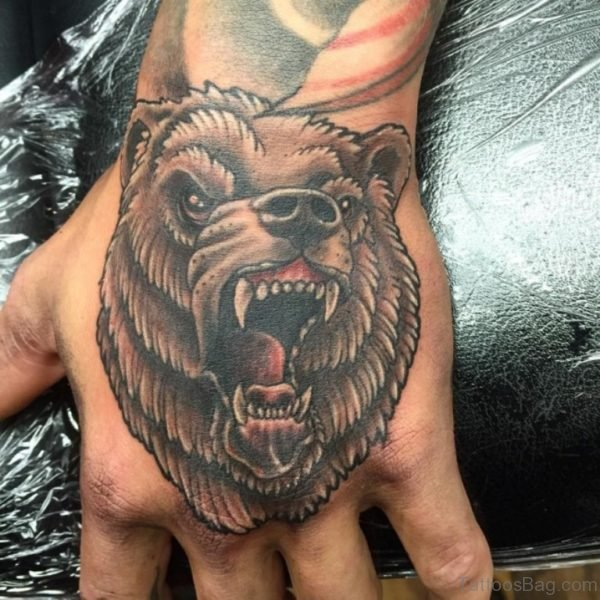 Funky Bear Tattoo