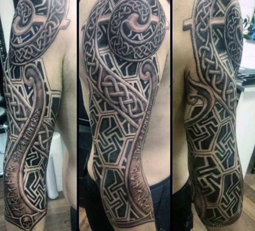 23a4258ac 50 Great Celtic Tattoos For Full Sleeve