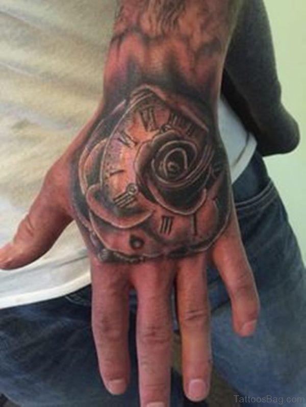 Funky Clock Tattoo
