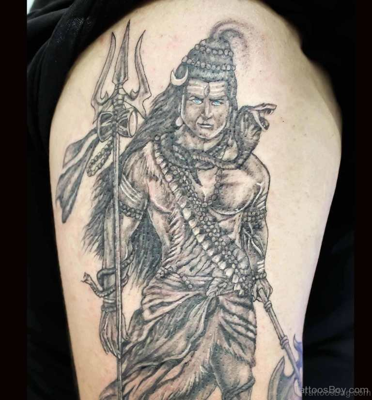 Tattoo Designs Shiva: 35 Nice Shiva Tattoos On Shoulder