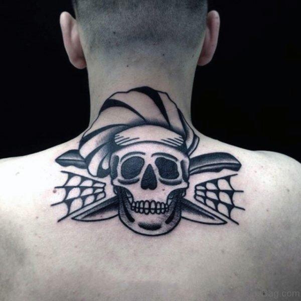 Funky Skull Tattoo Design