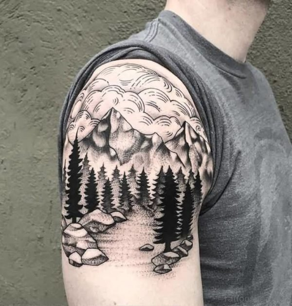 Funky Tree Tattoo Design