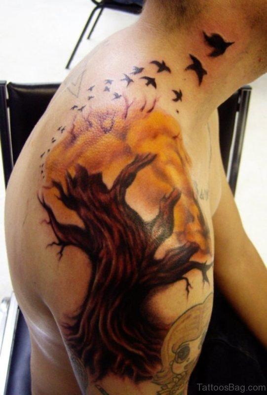 Funky Tree Tattoo Image