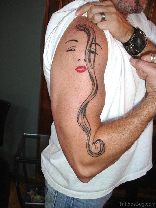 Funny Arm Tattoo Design