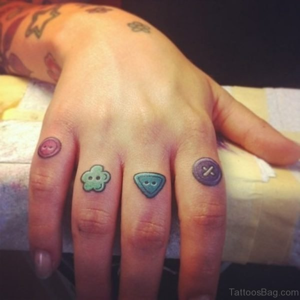 Funny Knuckle Buttons Tattoo