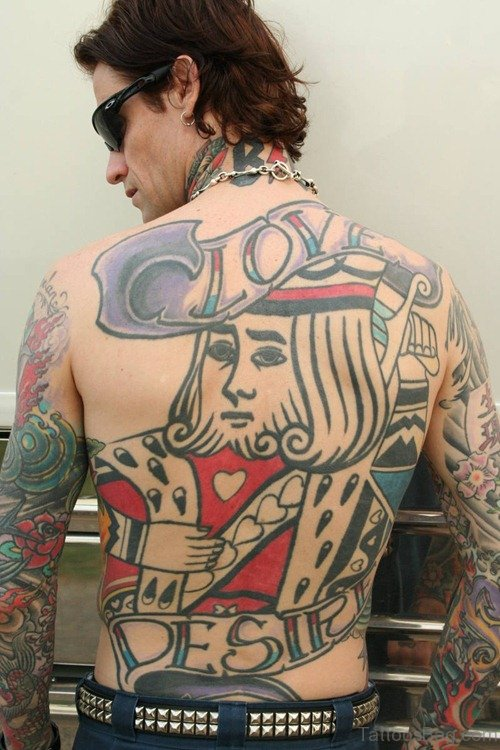 Funny On Full Back Tattoo