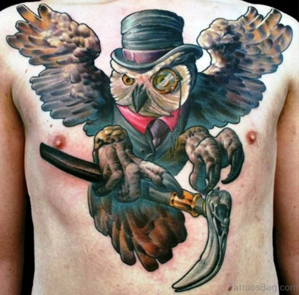 Funny Owl Tattoo