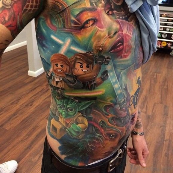 Funny Tattoo On Rib