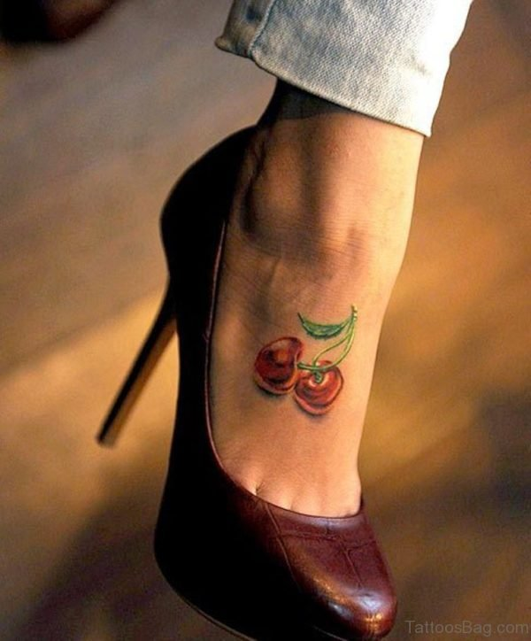 Funny Tattoo On ankle
