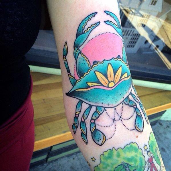 Funny scorpion Tattoo On Arm