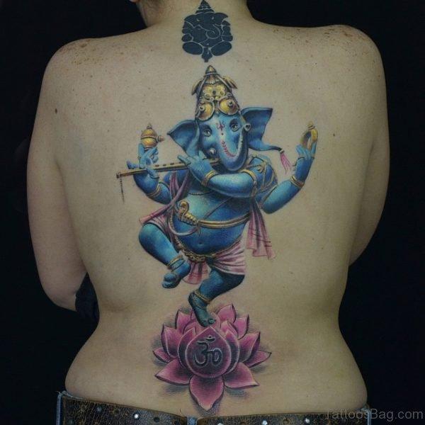 Ganesha Tattoo Design On Back