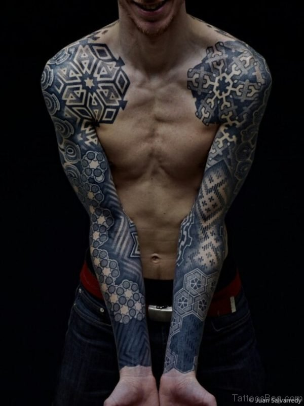 Geomatric Full Sleeves Tattoo Desing