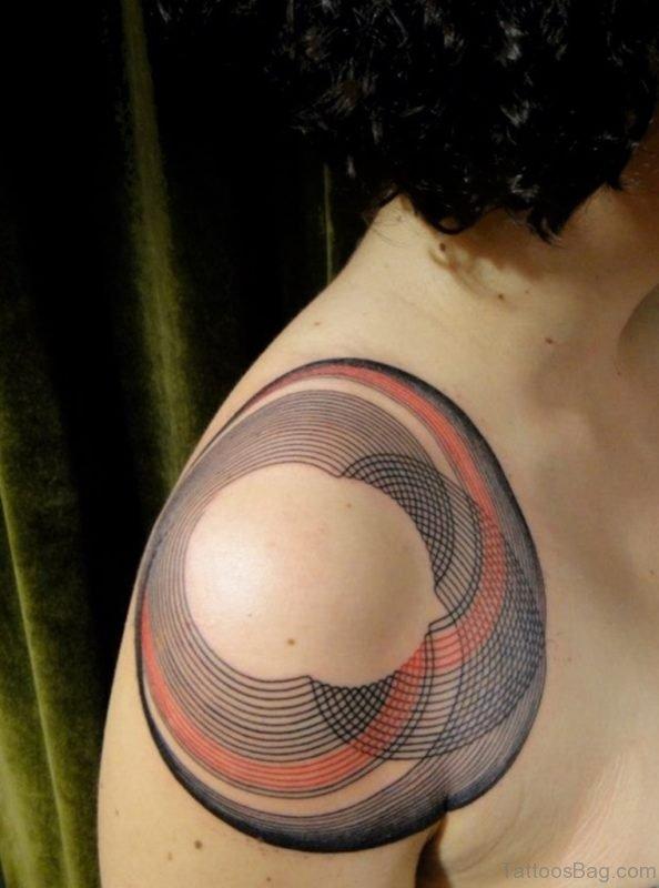Geometric Tattoo On Shoulder