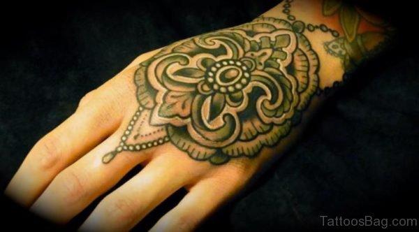 Geometric Tattoo On Hand