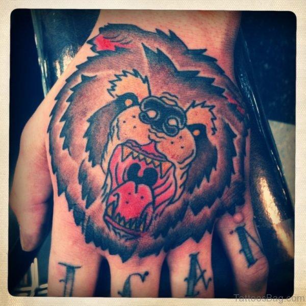Good Bear Tattoo On hand