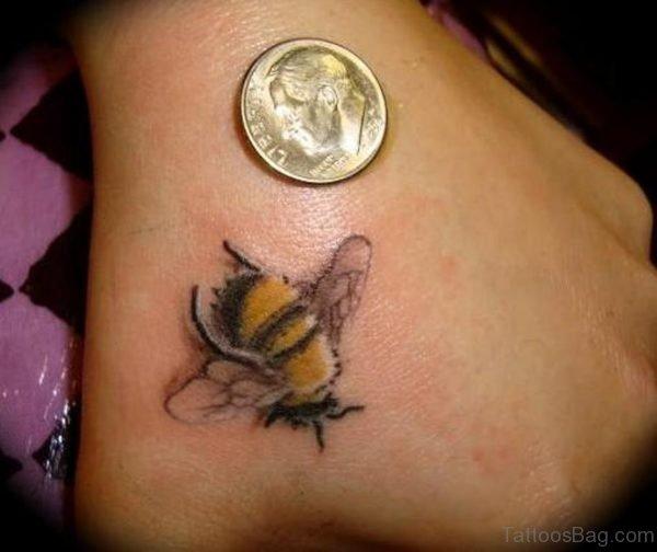 Good Bee Tattoo On Hand