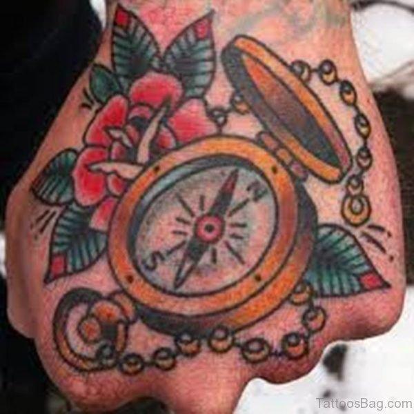Good Compass Tattoo On Hand