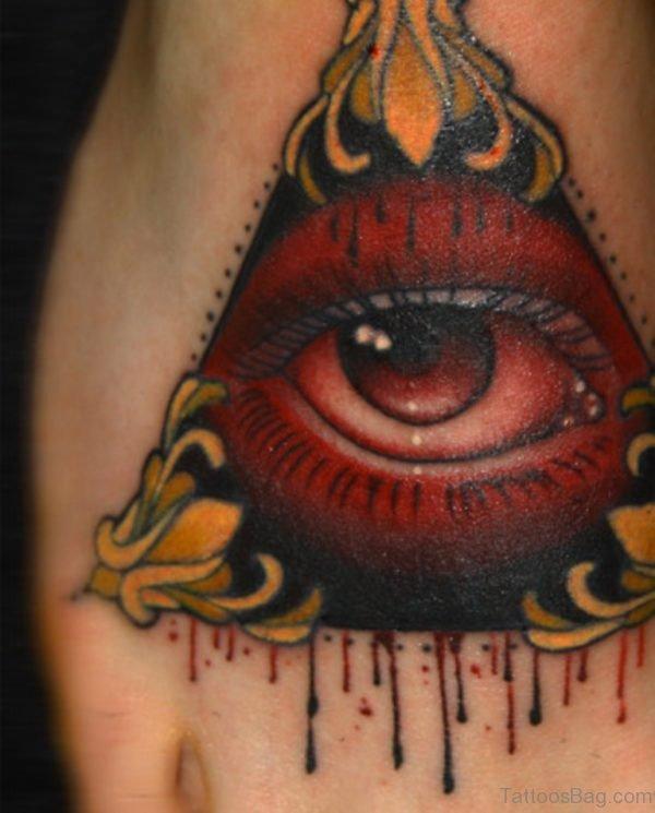 Good Eye Tattoo On Foot