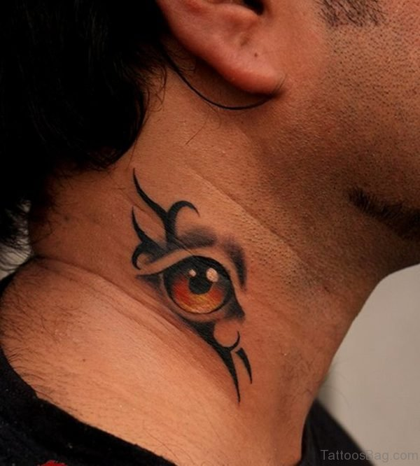Good Eye Tattoo On Nape