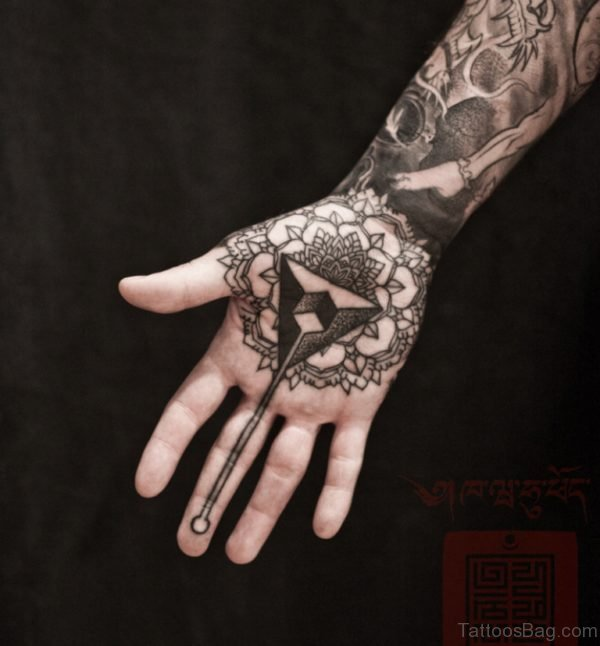 Good Looking Mandala Tattoo On Hand