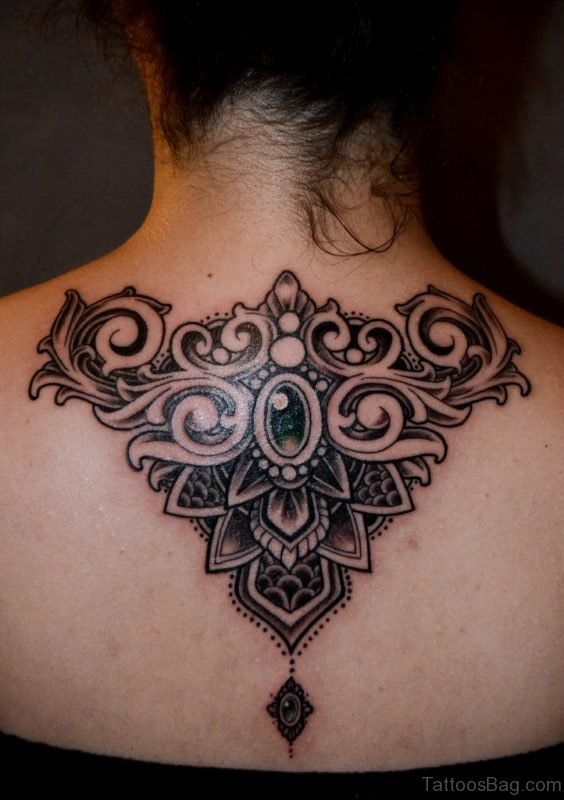 Good Looking Nape Tattoo Image