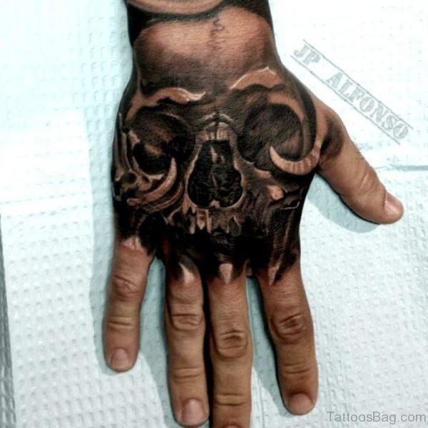 Good Skull Tattoo On Hand