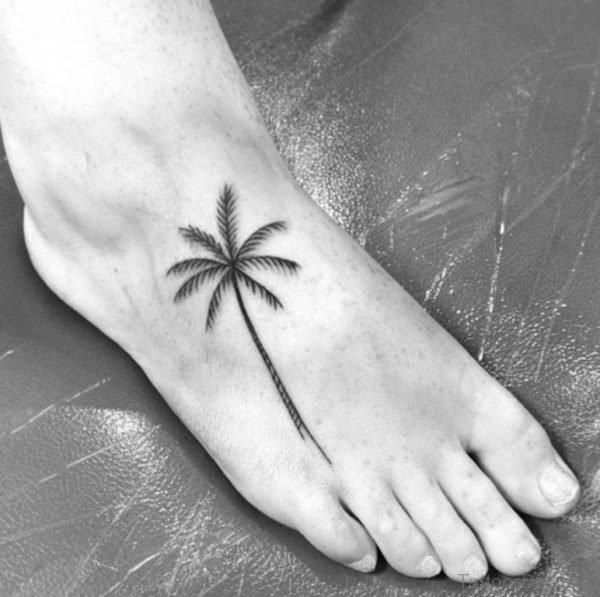 Good Tree Tattoo On Foot