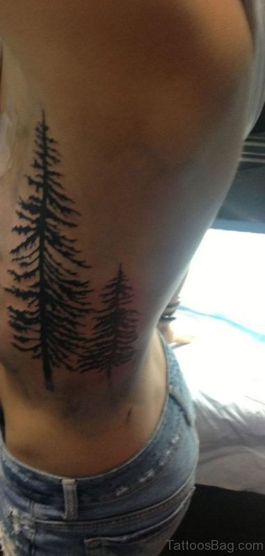 Good Tree Tattoo On Rib