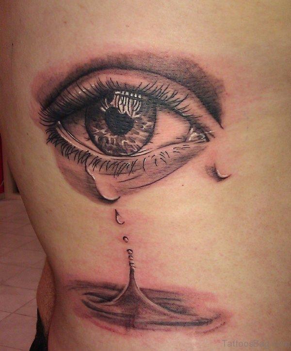 Gorgeous Eye Tattoo On Rib