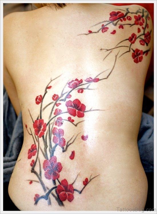 Graceful Cherry Blossom Tattoo
