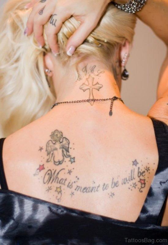Graceful Cross Tattoo