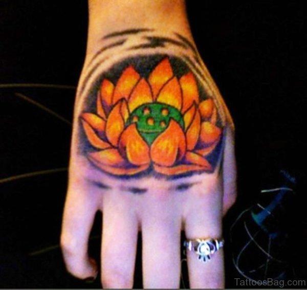 Graceful Lotus Tattoo