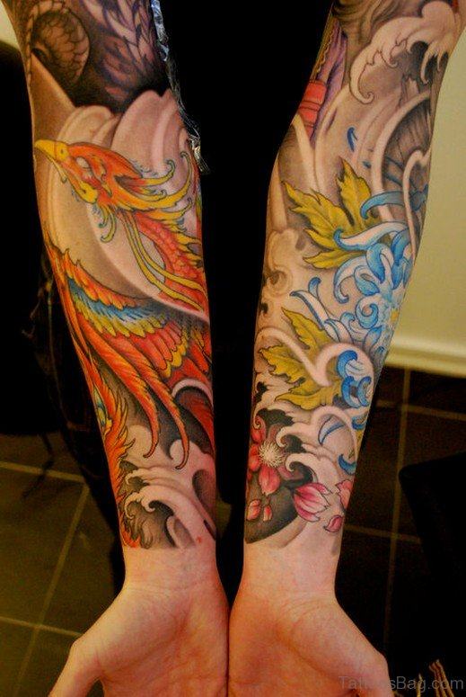 Graceful Phoenix Tattoo On Wrist