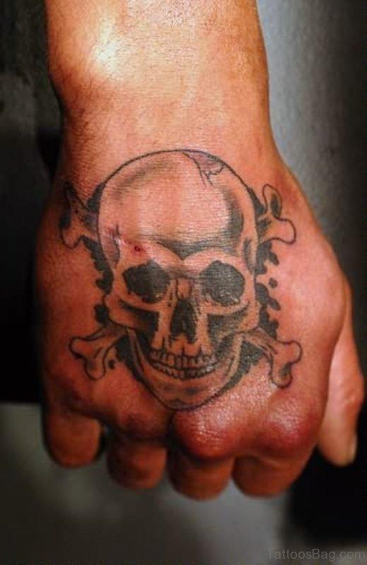 Graceful Skull Tattoo