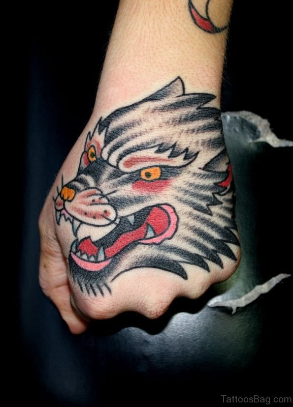 Graceful Wolf Tattoo
