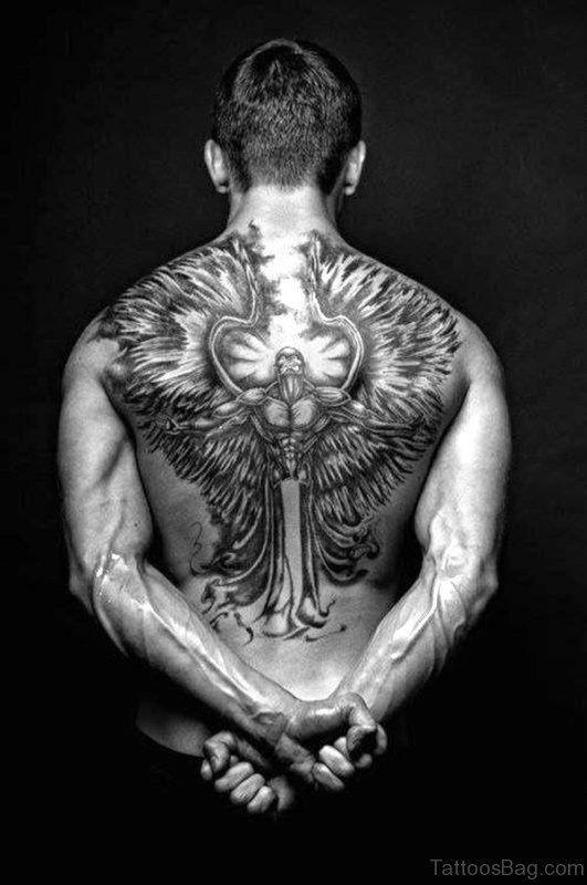 Great Archangel Tattoo On Back