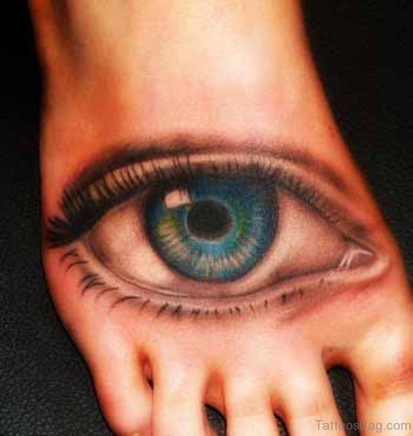 Great Eye Tattoo On Foot
