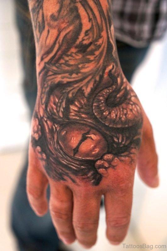 Great Eye Tattoo On Hand