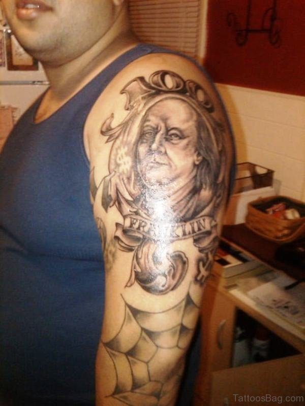 Great Greek Tattoo On Shoulder
