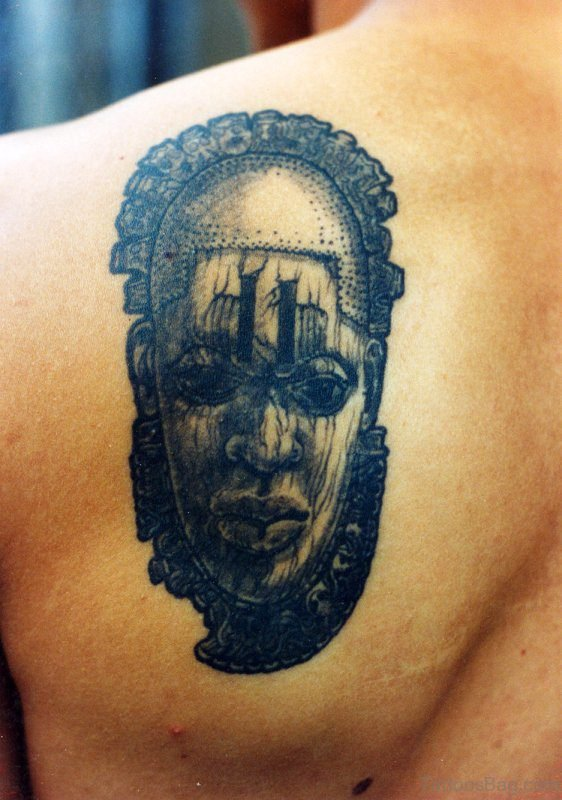 Great Tattoo Design On Back Shoulder
