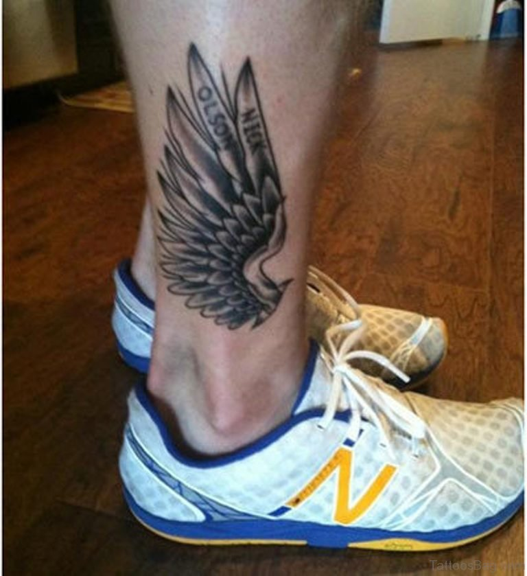 62 mind blowing wings tattoos on ankle. Black Bedroom Furniture Sets. Home Design Ideas