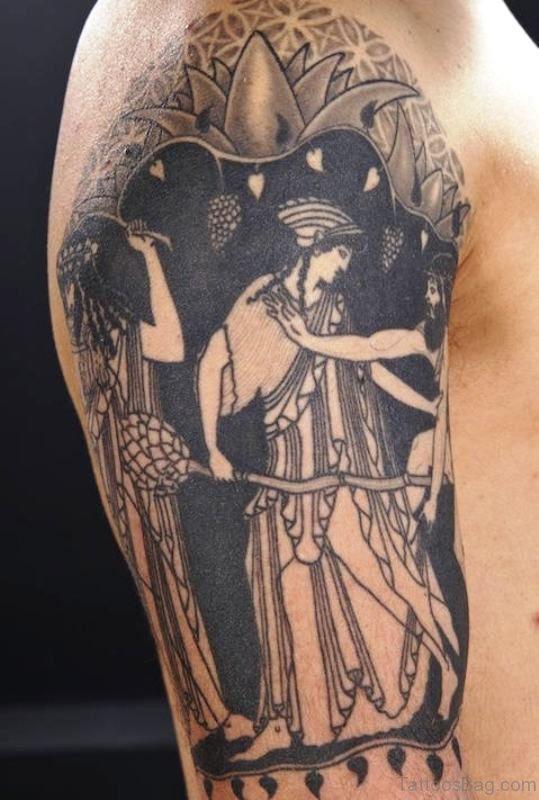 Greek Tattoo Design Tattoo On Shoulder