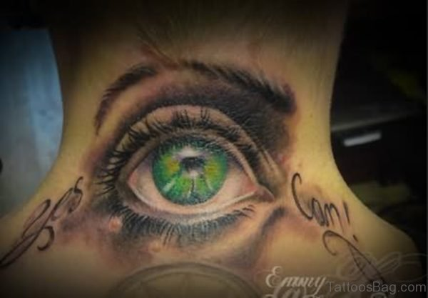 Green Eye Tattoo