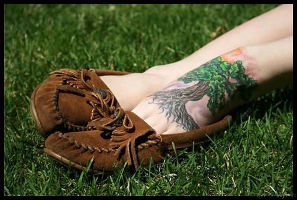Small Jacaranda Tattoo: 39 Cute Tree Tattoos On Foot