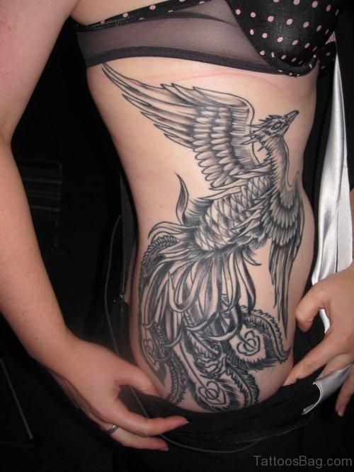 Phoenix Tattoo On Rib TB1051ST1050